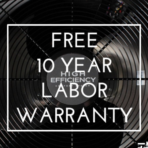 FREE 10 YEAR LABOR WARRANTY